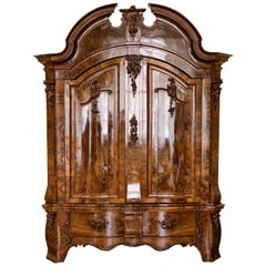 Rococo Armoire, Walnut, Northern Germany, circa 1760