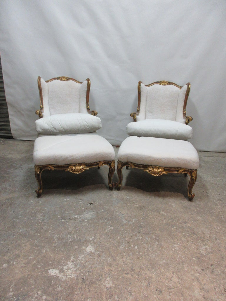 Swedish Rococo Bergers and Ottomans