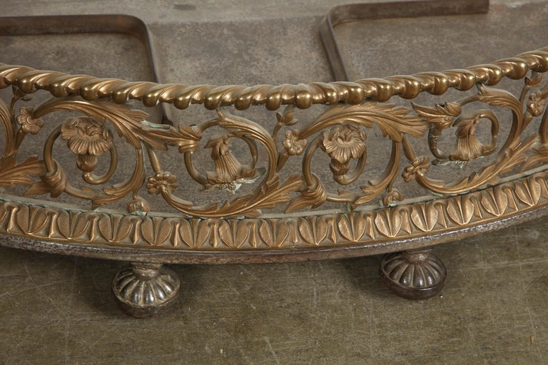 Rococo Bronze Fireplace Fender For Sale 1