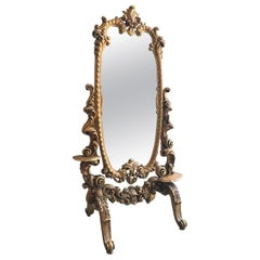 Rococo Carved and Giltwood Cheval Mirror