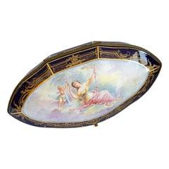 Rococo Ceramic Sevres Chest