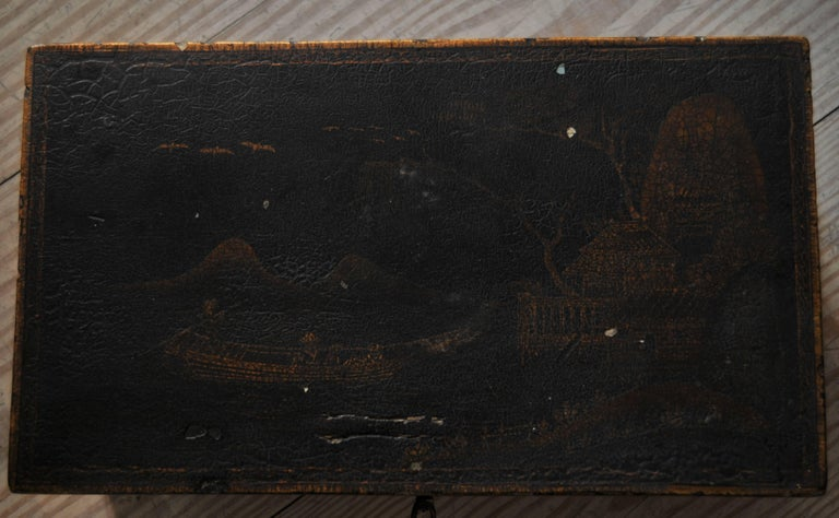 Rococo Chinoiserie Box, circa 1750 For Sale 3