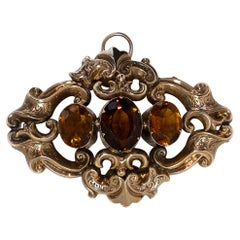 Rococo Citrine Set Pendant by Love and Object