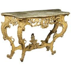Rococo Console Piedmont, Italy, 18th Century