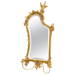 Rococo Early 20th Century Gilt Wood Sculptural Carved Giltwood Mirror