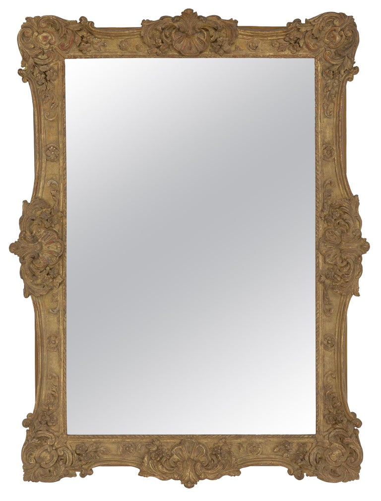 Rococo French Style Carved Mirror For Sale