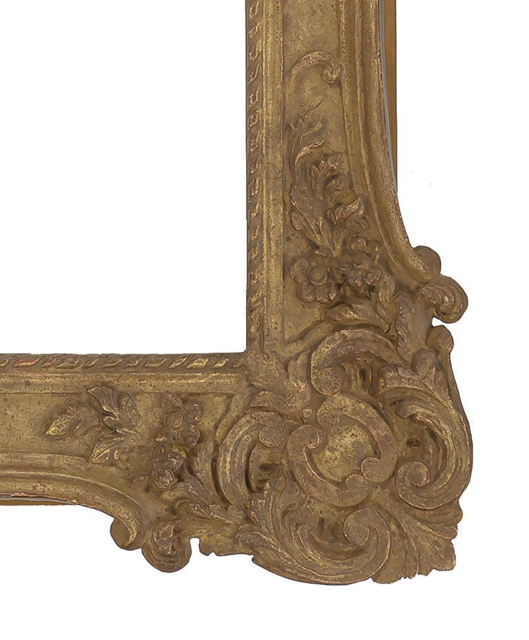 North American Rococo French Style Carved Mirror For Sale