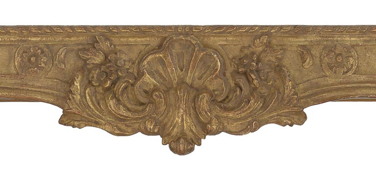 Rococo French Style Carved Mirror In Good Condition For Sale In New York, NY