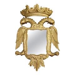 Rococo Giltwood Golden Phoenix Bird Wall Mirror, 19th Century, England