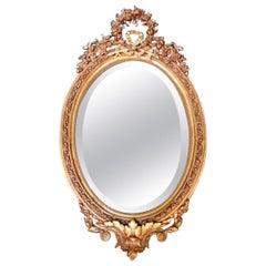 Rococo Giltwood Mirror France  Napoleon III