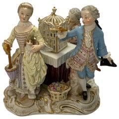 Rococo Meissen Porcelain Trio of Children
