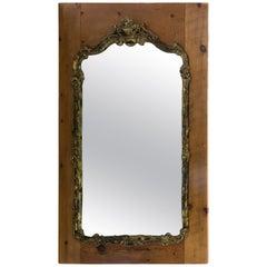Rococo Mirror on Pine Board