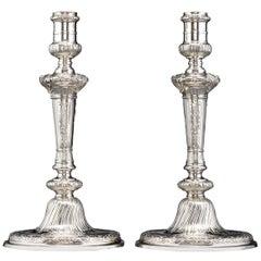 Rococo Silver Candlesticks by Alexander Johnson