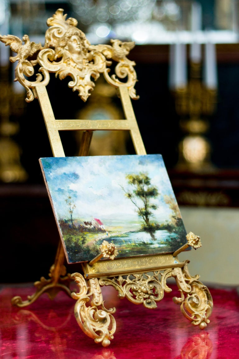 Rococo Style Bronze Table Easel Book Stand For Sale 7