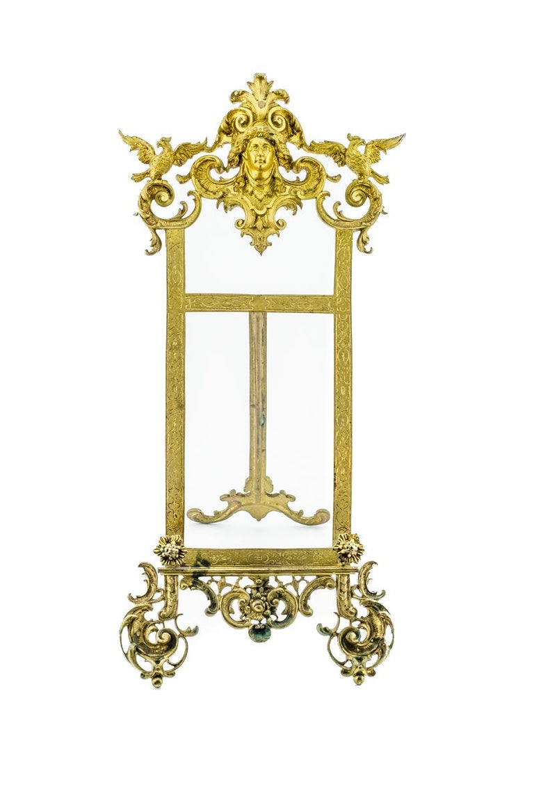 Beautiful French Rococo style table easel or book stand made of bronze. Easel can be used also as a stand for picture or small painting, France, 1920s.