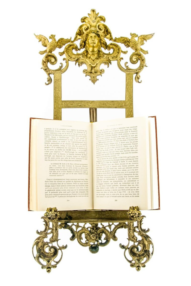 Rococo Style Bronze Table Easel Book Stand In Good Condition For Sale In Barntrup, DE