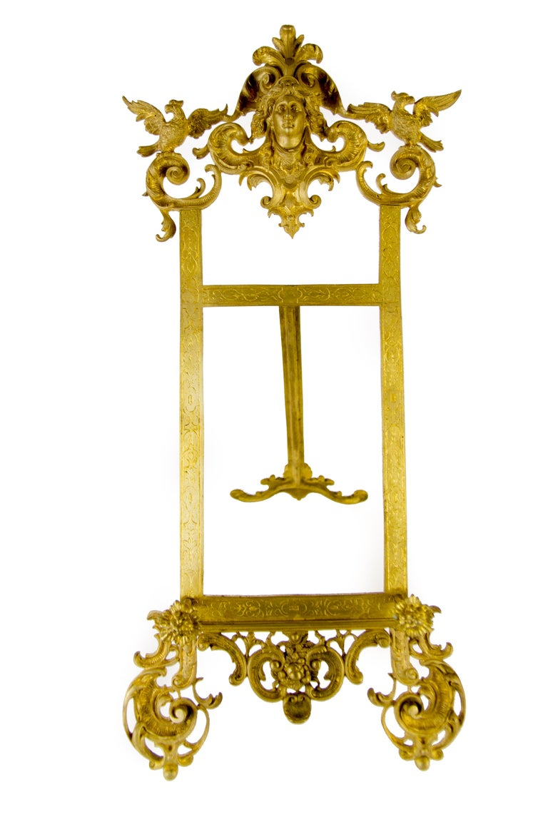Rococo Style Bronze Table Easel Book Stand For Sale 4