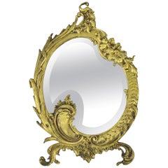 Rococo Style Bronze Wall Mirror
