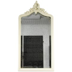 Rococo Style Carved and White Painted Wall Mirror