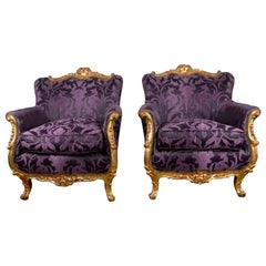 Rococo Style Club Chairs