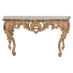 Rococo Style Console with Marble Top