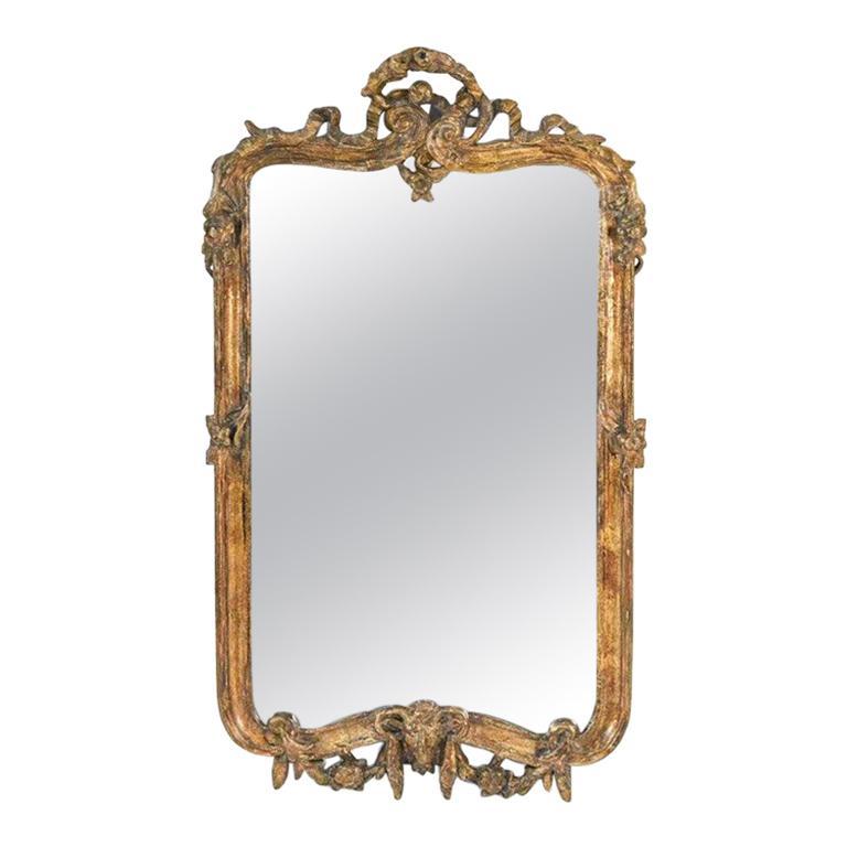 Rococo Style Gilt-Frame Mirror For Sale