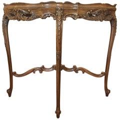 Rococo Style Inlaid Walnut Side Table