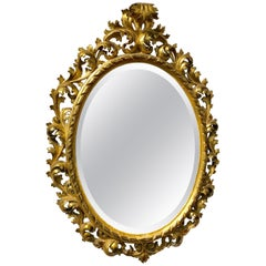 Rococo Style Mirror, Germany 19th Century