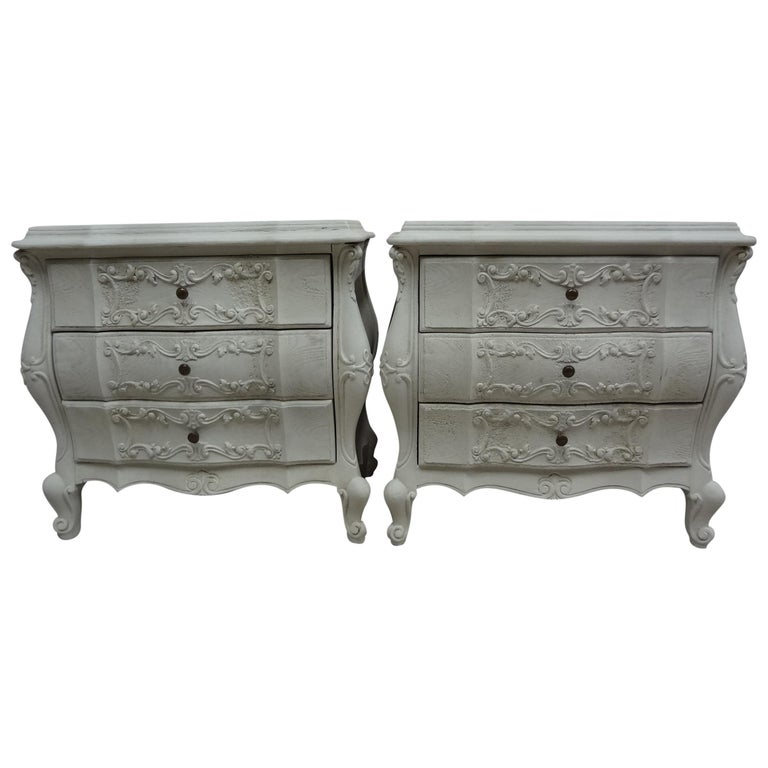 Rococo Style Nightstands For Sale