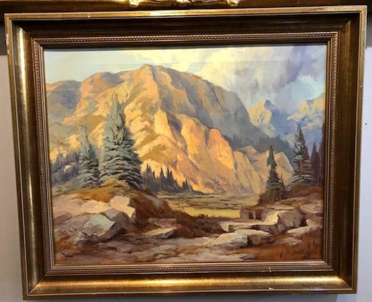 Mountain Landscape - Painting by Rod Goebel