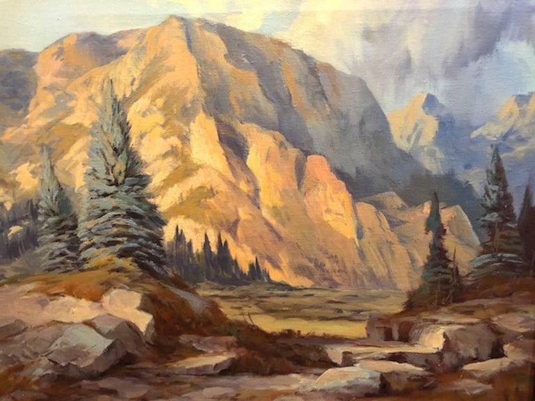 Mountain Landscape - Other Art Style Painting by Rod Goebel