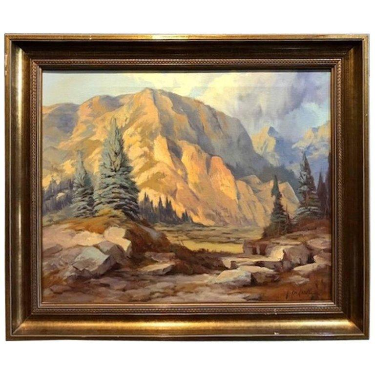 Rod Goebel Landscape Painting - Mountain Landscape