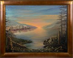 Mid Century Sunset on the Inlet Landscape