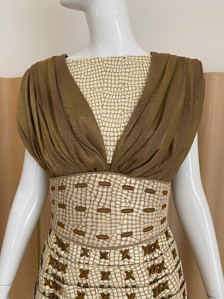 Beige RODARTE 2011 Runway Dress For Sale