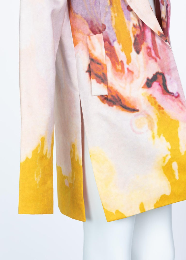 Rodarte Watercolor Jacket Runway Spring ,2008 For Sale 8