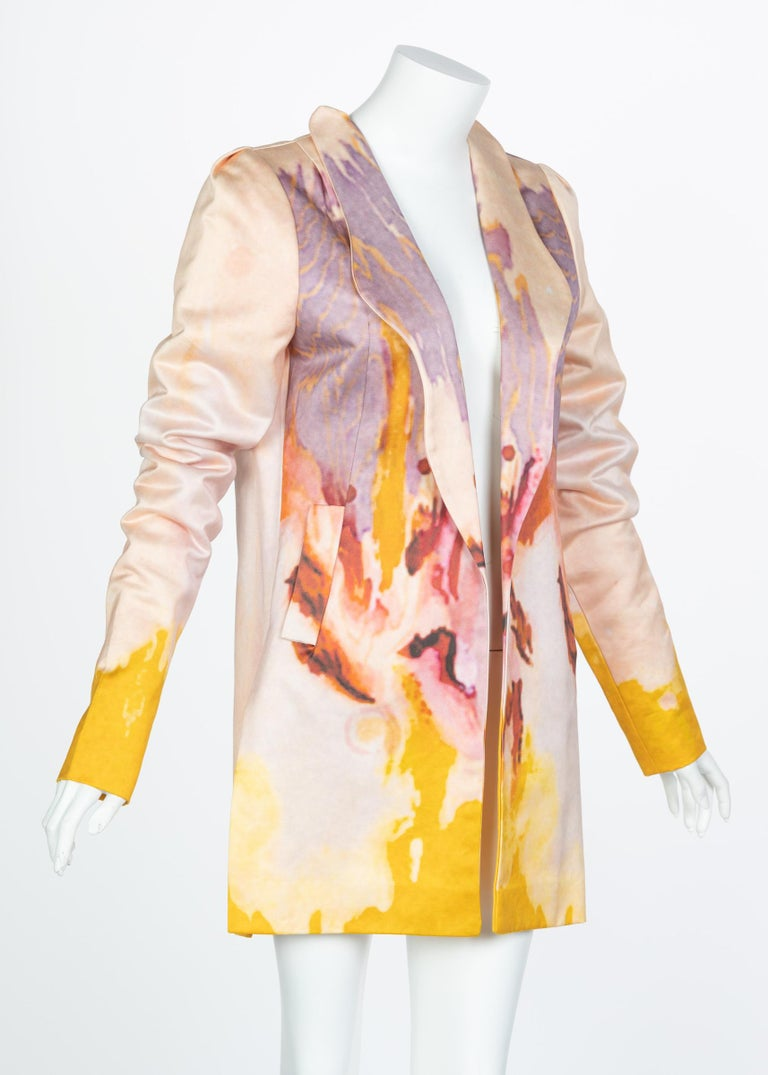 Rodarte Watercolor Jacket Runway Spring ,2008 For Sale 10