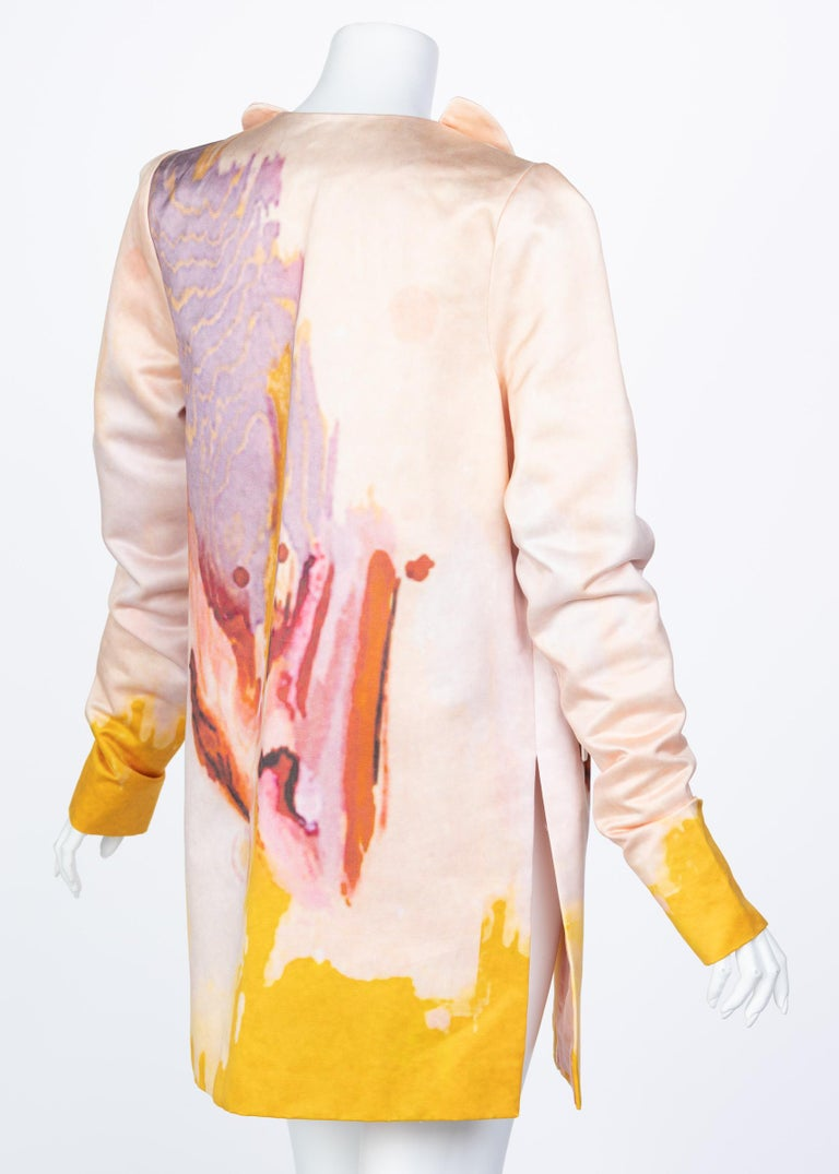 Rodarte Watercolor Jacket Runway Spring ,2008 In Excellent Condition For Sale In Boca Raton, FL