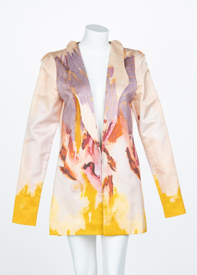 Rodarte Watercolor Jacket Runway Spring ,2008 For Sale 2