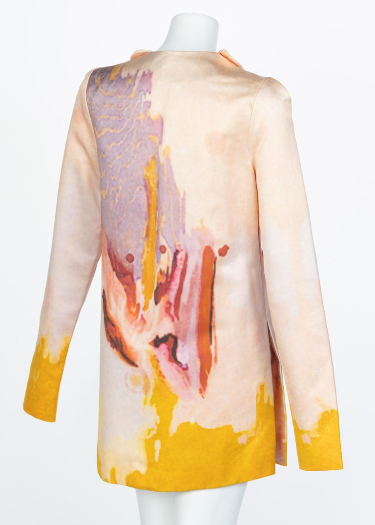 Rodarte Watercolor Jacket Runway Spring ,2008 For Sale 3
