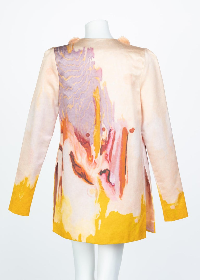 Rodarte Watercolor Jacket Runway Spring ,2008 For Sale 4