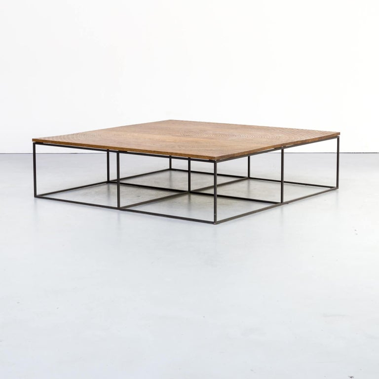 Salontafel Smoked Oak.Roderick Vos Log Oak Metal Coffee Table For Linteloo For Sale At