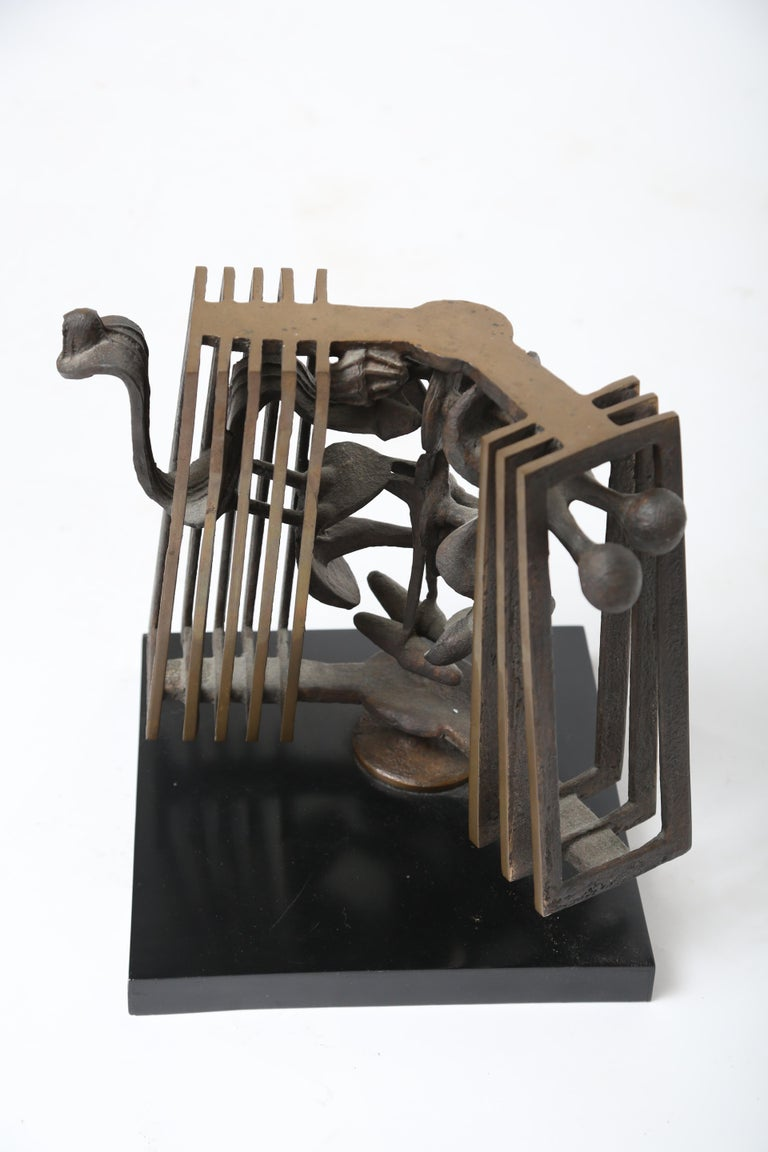 Rodger Mack was a graduate of Cranbrook Acadamy. He moved to Syracuse in 1968 where  He was head of the Sculpture Department at Syracuse university. He established the Triangle Artists workshop with Anthony Caro. He had numerous exhibitions in