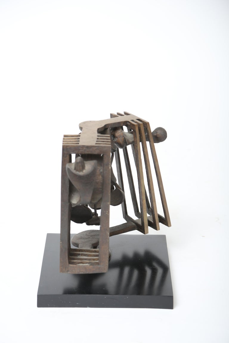 Mid-20th Century Rodger Mack Bronze Sculpture For Sale