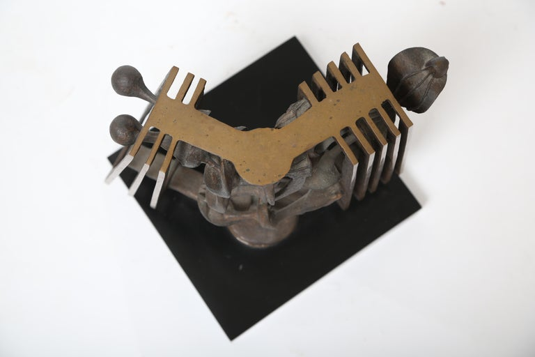 American Rodger Mack Bronze Sculpture For Sale