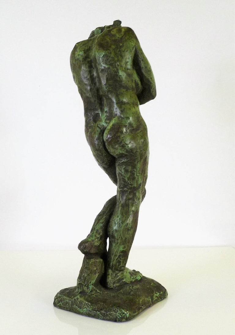 Rodin Classical Nude EVE Reproduction Plaster Sculpture by Austin Productions For Sale 4