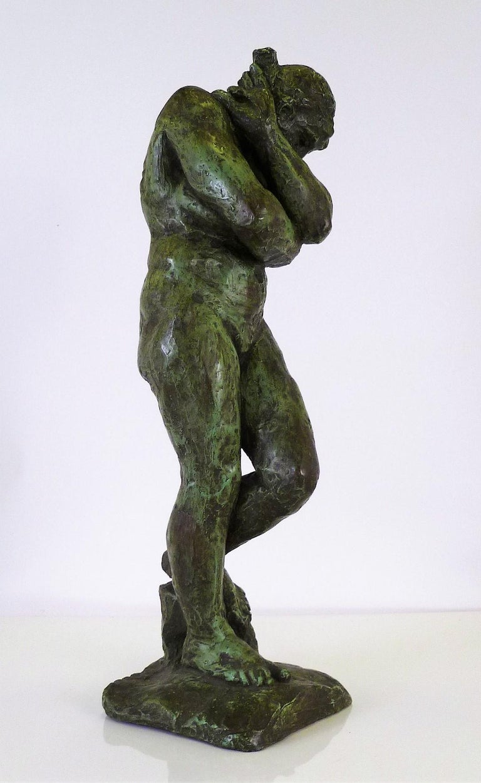 Belle Époque Rodin Classical Nude EVE Reproduction Plaster Sculpture by Austin Productions For Sale