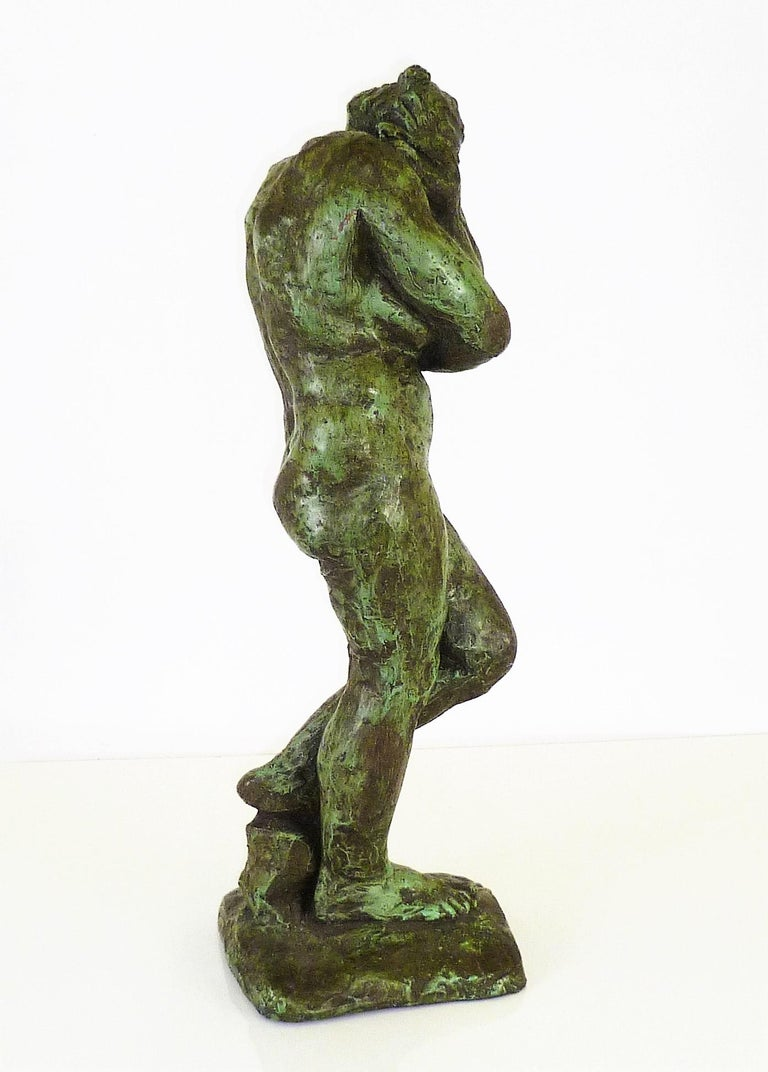 American Rodin Classical Nude EVE Reproduction Plaster Sculpture by Austin Productions For Sale