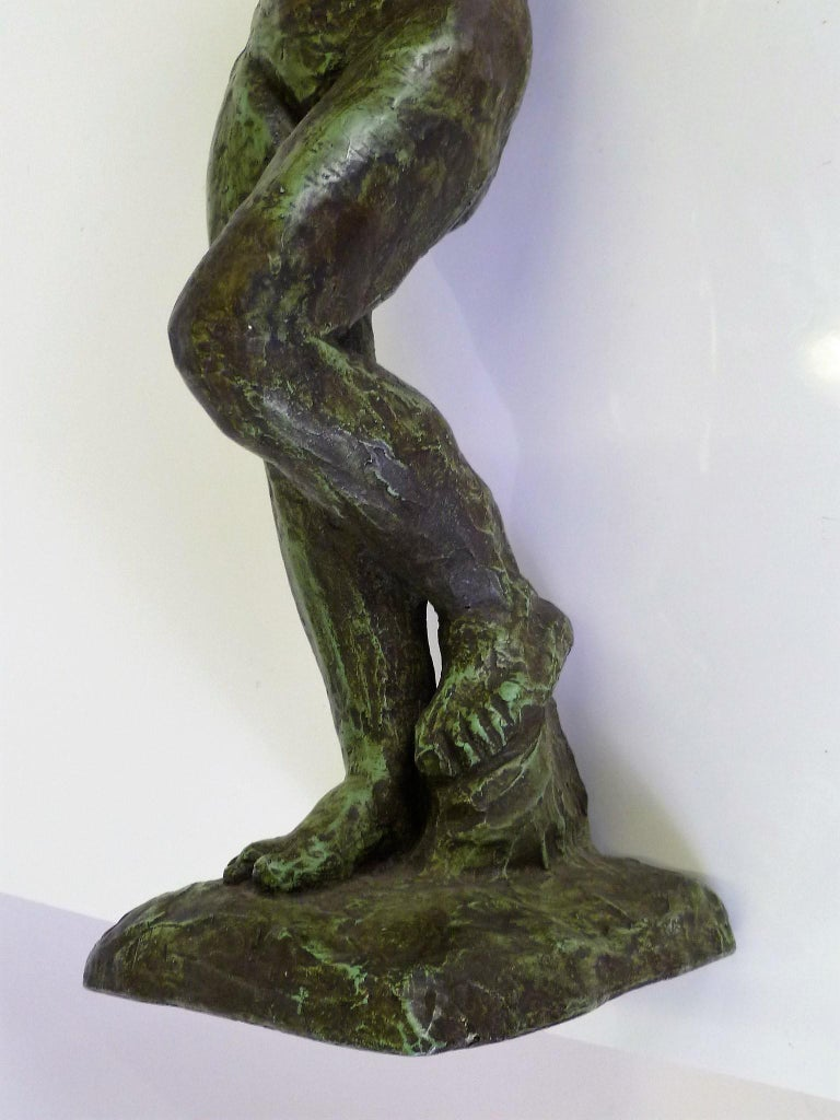 Rodin Classical Nude EVE Reproduction Plaster Sculpture by Austin Productions For Sale 2