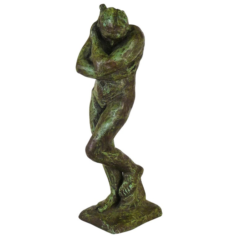 Rodin Classical Nude EVE Reproduction Plaster Sculpture by Austin Productions For Sale