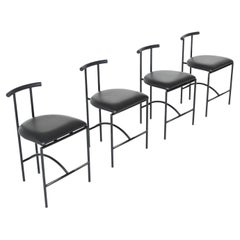Rodney Kinsman Model Tokyo Dining Chairs Bieffeplast Italy 1985